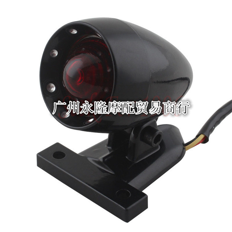 top quality red lighting moto brake light retro motorbike warning signal light for harley prince cruise LED motorbike tail light