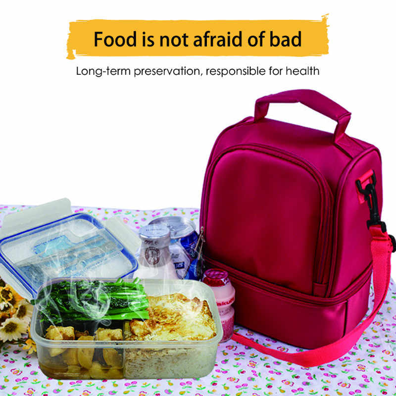 Classic Lunch Bag Portable Insulated Cooler Bags Thermal Food Picnic Lunchbox Handheld Women Kid Lunch Box Tote Nylon Waterproof