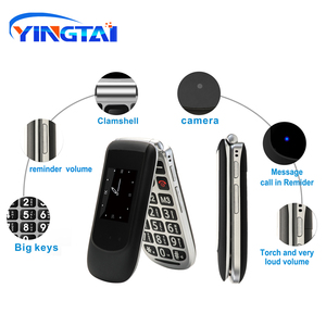 Image 2 - YINGTAI T09 Best feature phone GSM Big push button flip phone Dual Screen clamshell 2.4 inch Elder telephone cell phones FM MP3