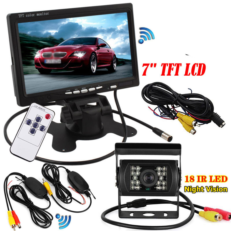 18 IR LED Night Vision Truck Bus Car Rear View Reverse Backup Parking Camera GN