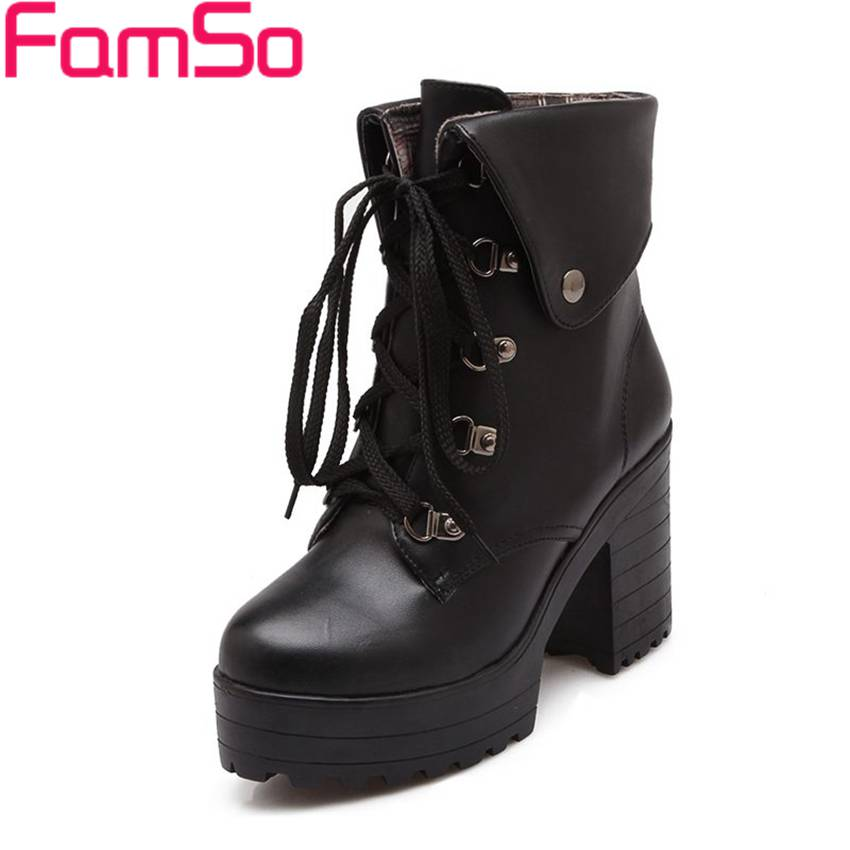 Plus Size34 43 2016 new Sexy font b Women b font Boots Black high heels Martin