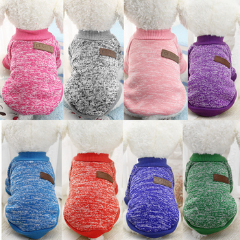Dog Clothes For Small Dogs Soft Pet Dog Sweater Clothing For Dog Winter Chihuahua Clothes Classic Pet Outfit Ropa Perro 20-22S1