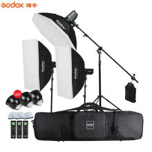 Godox 3*SL-150W 450W Continuous Light Video Studio LED Light,Softbox,Light Stand, Boom Arm Light Stand For Studio Photography 3 x 150w studio fresnel tungsten light fixture with dimmer control spotlight video light kit lighting with carry case and stand