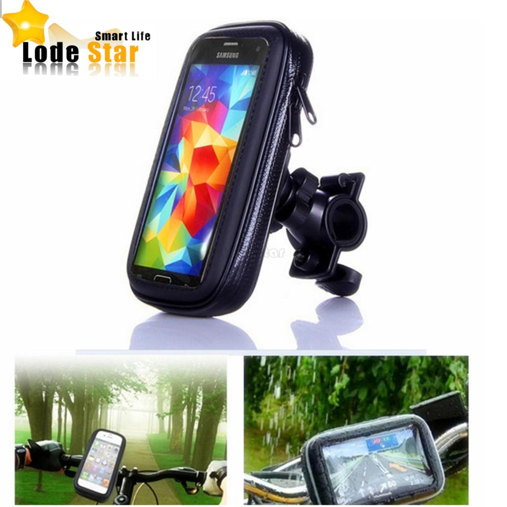 Universal Bike Bicycle Motorcycle Waterproof Cell Phone Case bag Handlebar Mount Holder Stand for iPhone7 6 Samsung Smartphone mobile phone