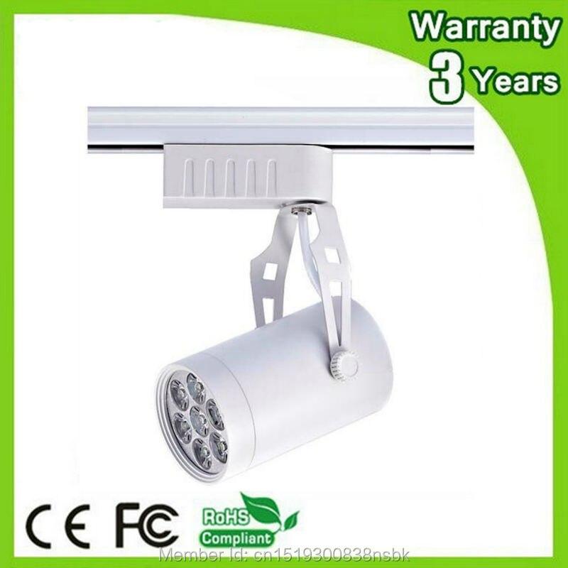 (50PCS / Lot) Epistar Chip 3 roky záruka Silné pouzdro 7W LED Track Light Stmívatelné Spot Bulb Spotlight Rail