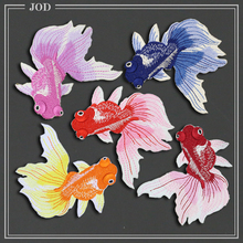 Chinese Style Embroidered Fish Patch Repair Clothes Hole Decorative Cheongsam Iron on Stickers Patches for Clothing Sewing Badge