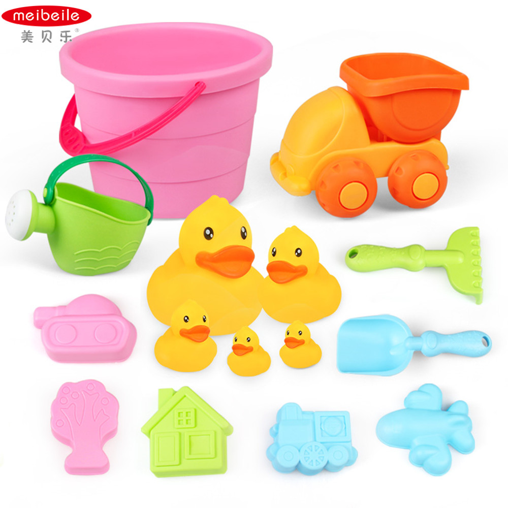 Beach Toys For Girls : Meibeile summer toys bucket shovels cars tools baby