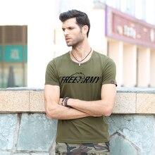 Neue Design Sommer T Shirts Für Männer Druckbuchstaben Einfache Klar T-shirt Casual Armee Tops Tees Marke Herrenbekleidung Ms-6292A