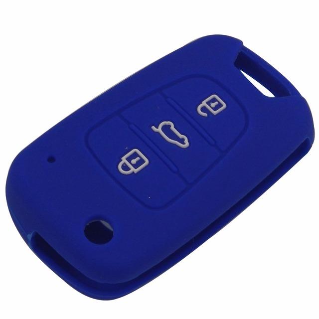 jingyuqin 3BTN Silicone Car Key Cover Case For Kia RIO K2 K5 Sportage Sorento For Hyundai i20 i30 i35 iX20 iX35 Solaris Verna