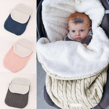 Популярная детская с наполнителем спальные мешки детские утолщенные вязаные термо спальные мешки мягкий свитер спальные мешки коляска спальный мешок