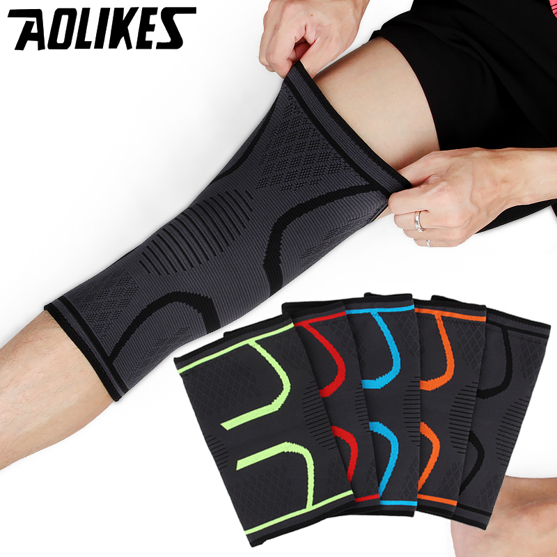 1PCS Fitness Running Cycling Knee Support Sports Braces Elastic Nylon Compression Basketball Knee Pad Sleeve for Volleyball цена