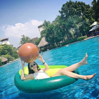 165*130cm 2019 Summer New Inflatable Avocado Pool swimming toys Pool floats for adults Float Air Mattress Thickened PVC