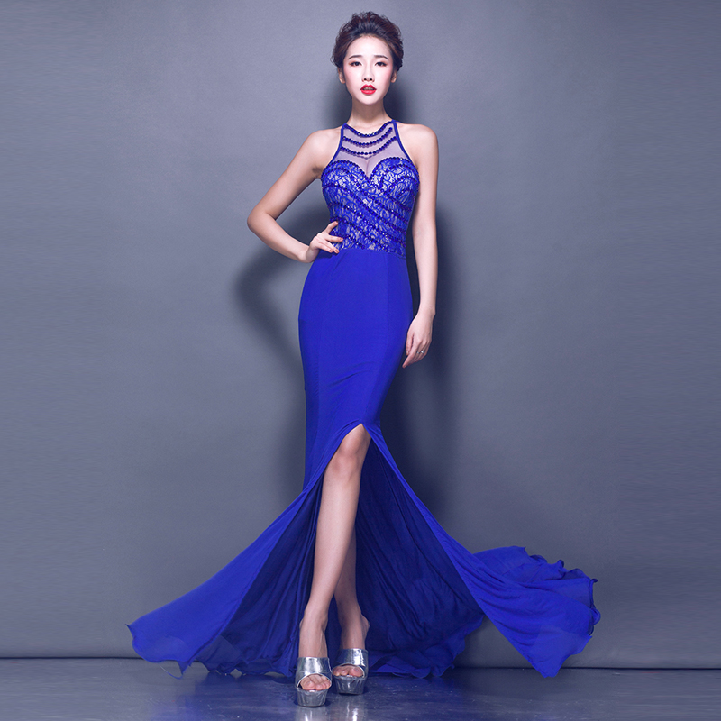 2015 New Long Evening Dress Night Performances Gowns Engagement ...