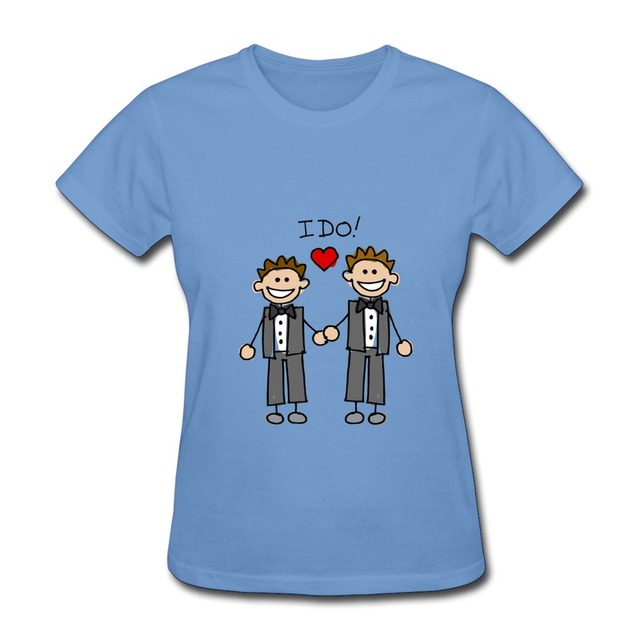Female 100 Cotton T Shirt Sweet Gay Marriage Funny School Quotes