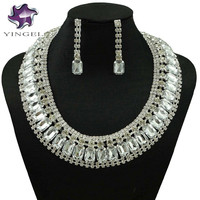 african beads jewelry silver plated earring necklace jewelry sets new design jewelry sets for african women fashion necklace