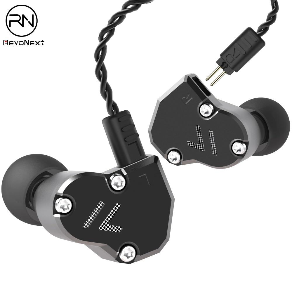 Revonext QT2s 2DD + 1BA Гибридный в ухо наушники HIFI DJ монитор бег спортивные наушники Earplug гарнитура вкладыши обновлен QT2