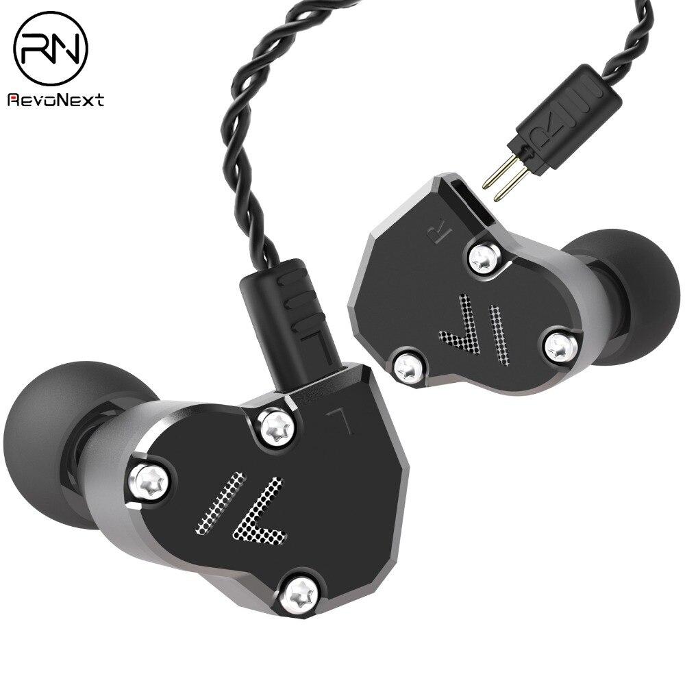 Revonext QT2s 2DD + 1BA Híbrido No Ouvido Fone de Ouvido de ALTA FIDELIDADE DJ Monitorar Execução Esporte Fone De Ouvido fone de Ouvido Earplug Fone Atualizado QT2