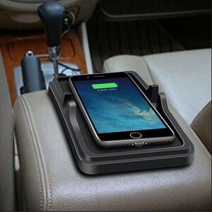 Image 5 - 10W 범용 자동차 충전기 Qi 무선 충전기 충전 도크 패드 빠른 충전기 대시 보드 홀더 iphone XR