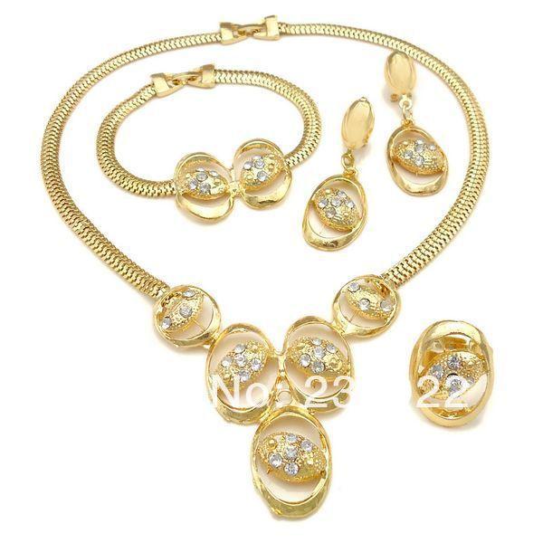 2014 stylish fake gold jewelry set Pakistani bridal dubai gold