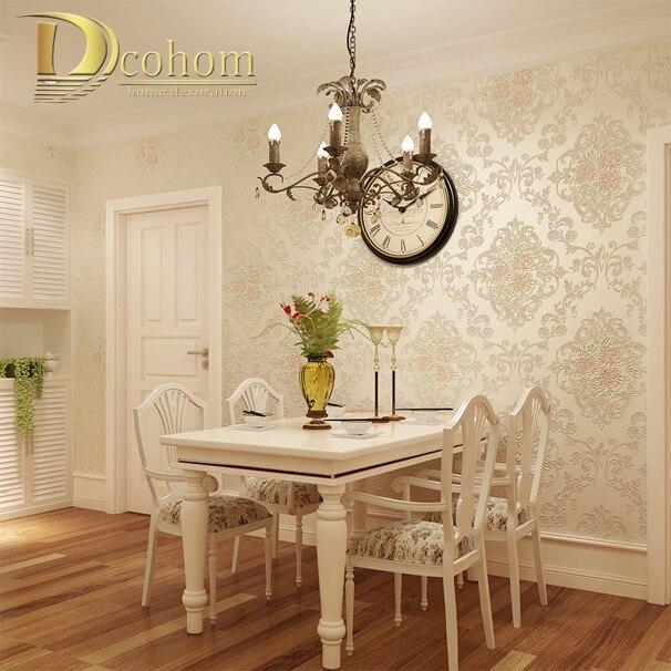 romantische silber glitter beige lila rosa rosen blume tapete 3d geprgte schlafzimmer wand dekor floral - Tapete Schlafzimmer Beige