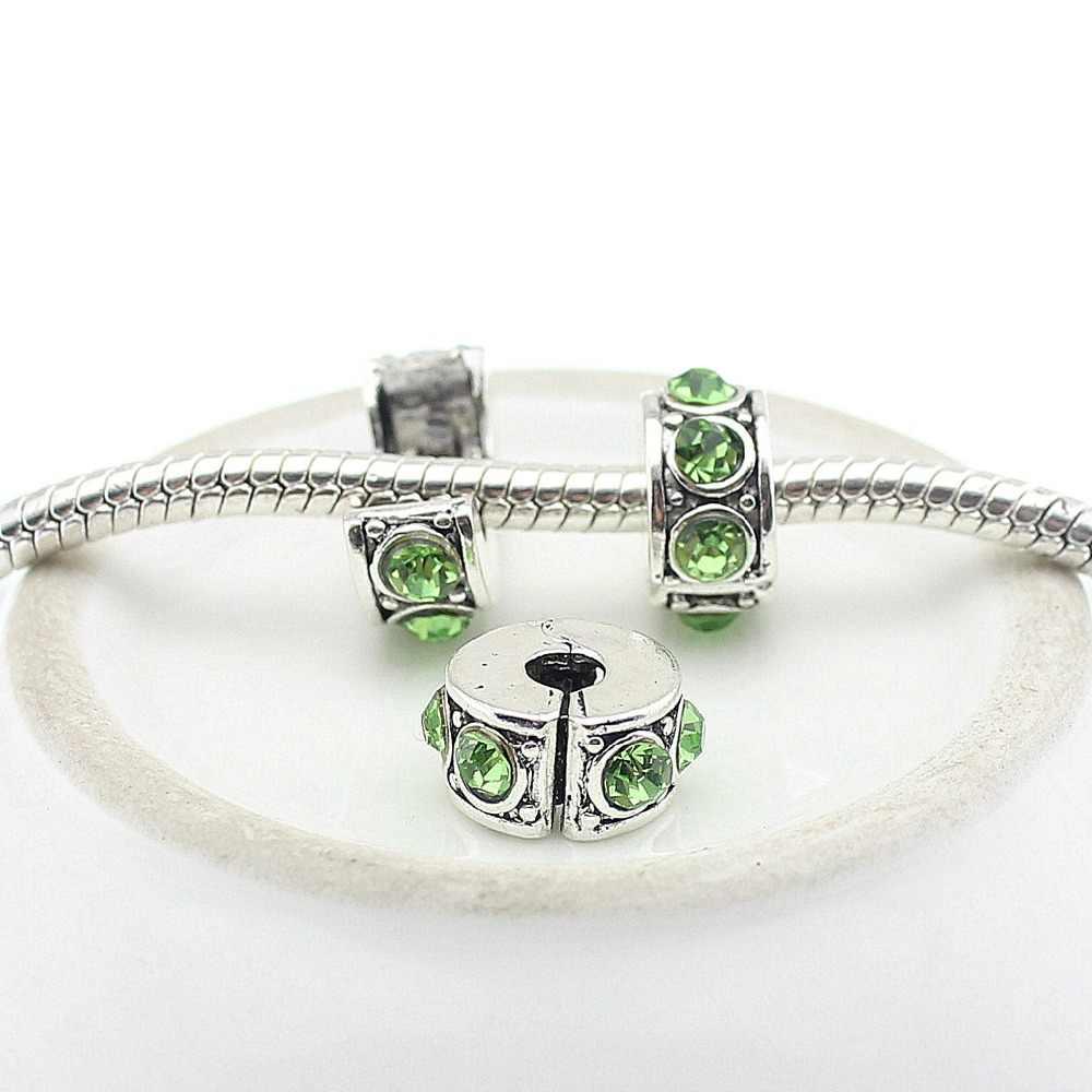 Stoper bezpieczeństwa pave cz nadaje się do stylu bransoletki Pandora koraliki do tworzenia biżuterii Fit Charms bransoletki dla kobiet DGW