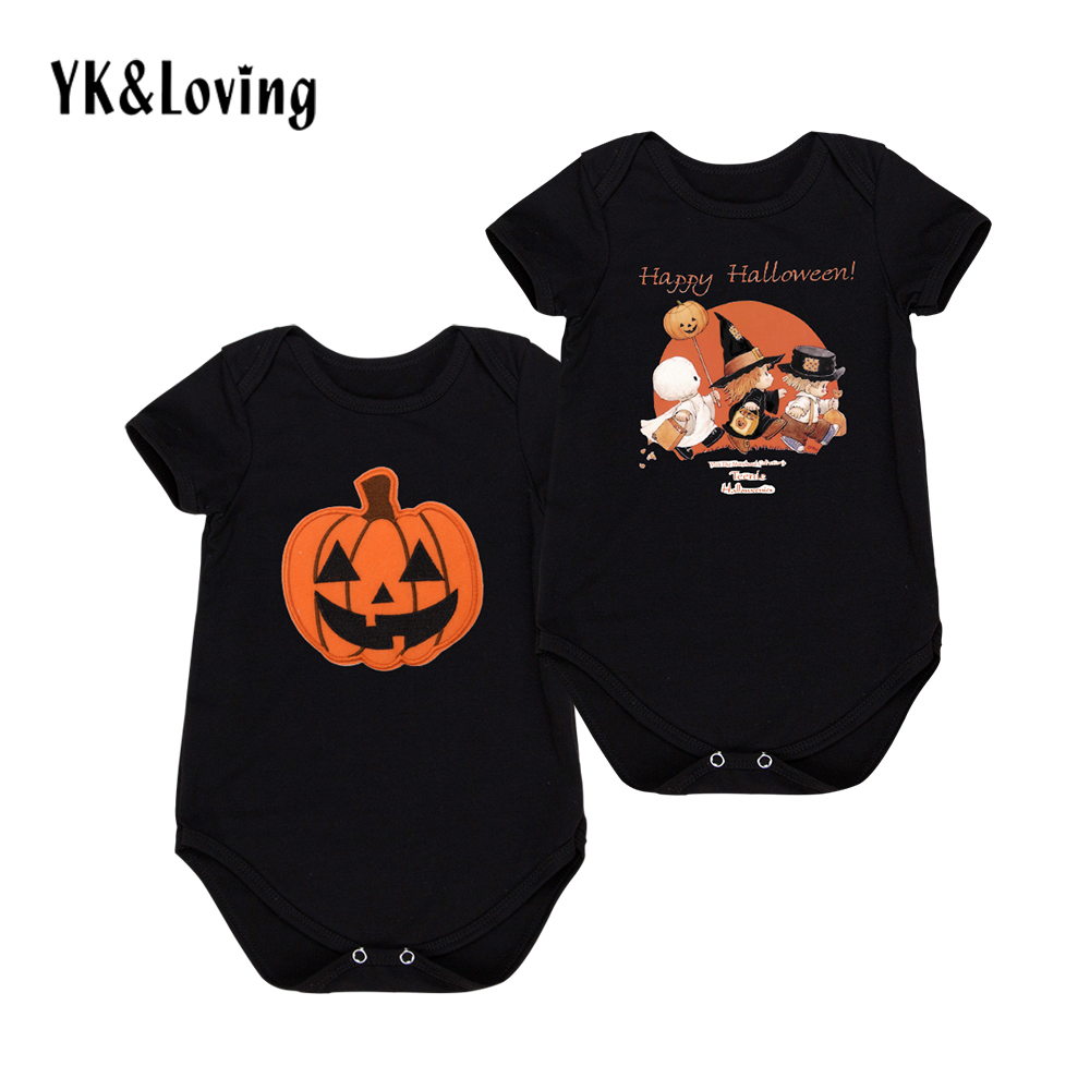 Black Baby Boy Romper for Halloween Cotton Newborn Clothes 0-24 Months Short Sleeve Toddler Jumpsuit Festival Costume Gift 2017 short form for months