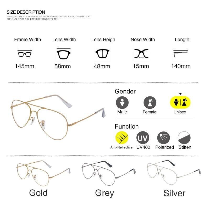 Simvey 2017 marca diseñador oro claro grande aviación falso Gafas ...