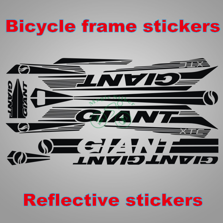 RIESEN XTC Fahrrad Radfahren Aufkleber Rahmen Reflektierende Reine ...