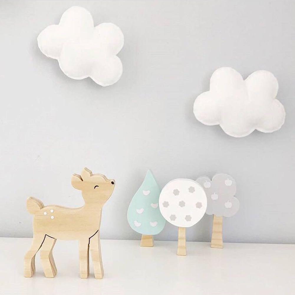 Ornaments Photo-Props Room-Decoration Wooden Nordic-Style Kids Blocks Trees-Shape 3pcs/Set