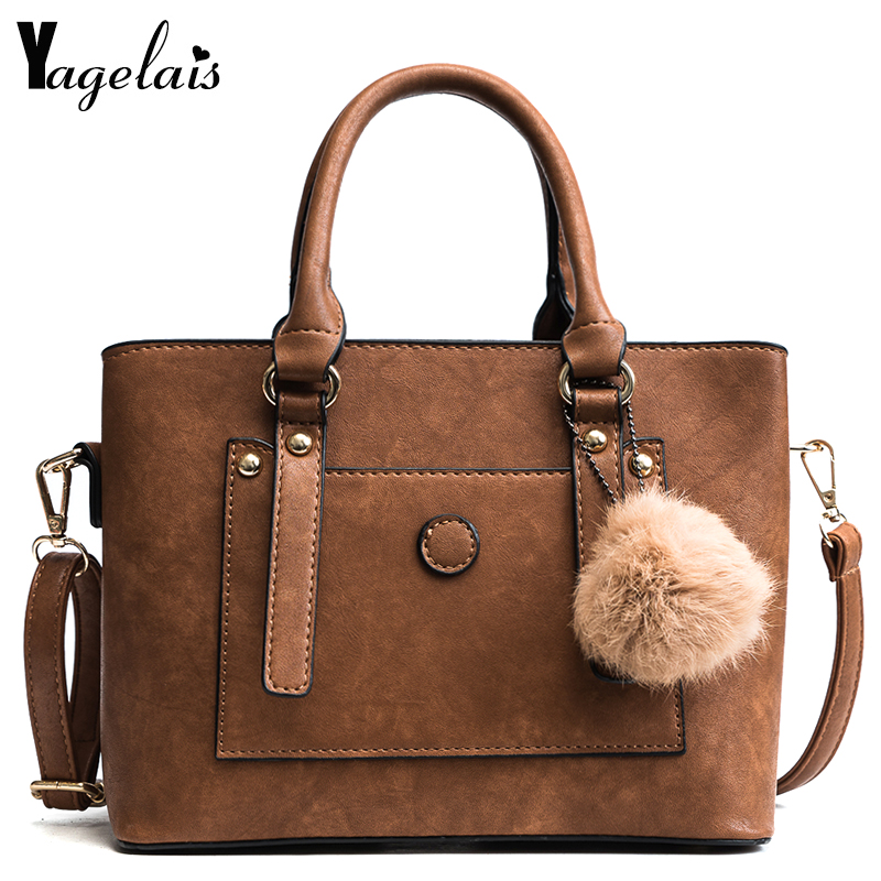 Women Solid Leather Fashion Shoulder Bags Luxury Feather Ball Women Messenger Bag Female Tote Women Crossbody Bag Handbags Bolsa women crossbody bags ladies leather handbags fashion designer small tote bags luxury brand solid shoulder messenger bags female