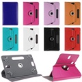 "360 Rotating Leather Stand Case Cover For Excelvan Tablets DuaLCore 7"" HD Tablet/ for Cube T7 Tablet 7"""