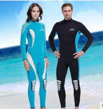 Men 3mm Neoprene Wetsuit Black Blue Diving Suit Scuba Snorkeling Swimming Suit Clothes Women's Surfing Fishing Bathing Body suit