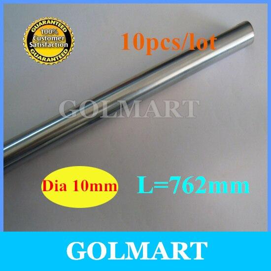 Линейный вал 10 шт. диаметр 10 мм-L 762 мм прецизионный хромированный линейный круглый вал romble
