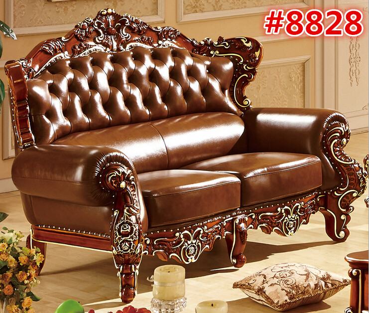 Online Shop American style living room carving wood two seater sofa