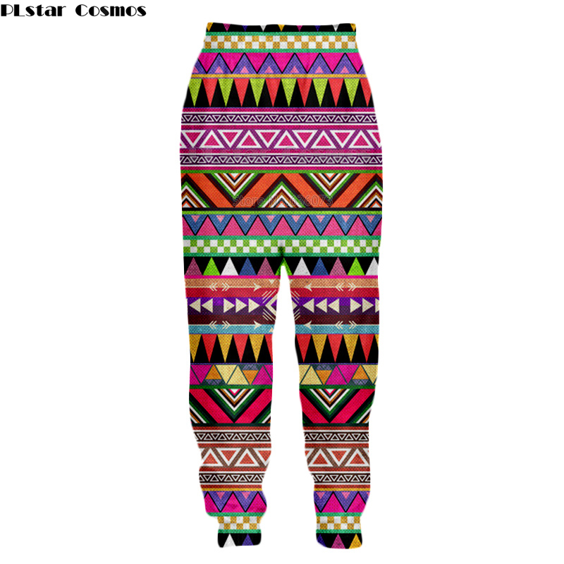 PLstar Cosmos 2018 New Fashion Men 3d Trousers Aztec Totem Print Tribal Background Retro Style Casual Joggers Pants