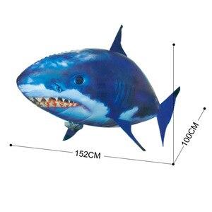 Image 4 - Uzaktan kumanda köpekbalığı oyuncak hava yüzme balıkları kızılötesi RC uçan hava balonları Nemo palyaço balığı çocuk oyuncakları hediyeler parti dekorasyon