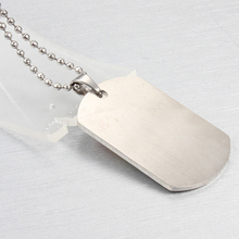 LGBT Peace Dog Tag Rainbow Stainless Steel Necklaces