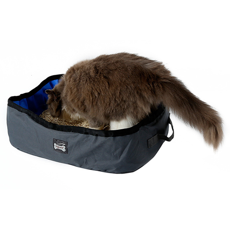 Pet Cat Travel Foldable Portable Outdoor Cat Litter Waterproof Collapsible Box Kitten Toilet Training Bedpan Pl0066 #5