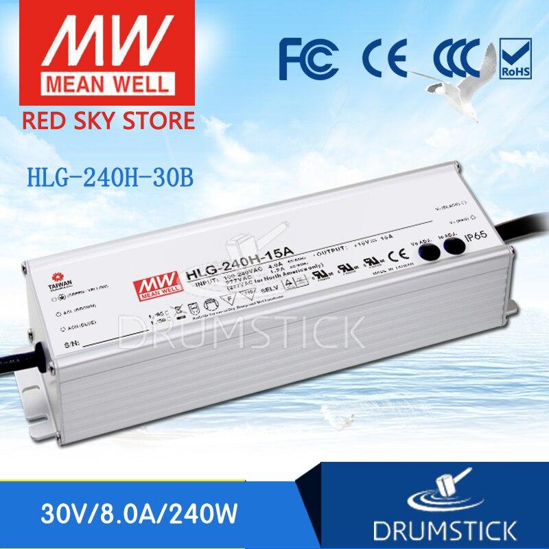 цена на Hot sale MEAN WELL HLG-240H-30B 30V 8A meanwell HLG-240H 30V 240W Single Output LED Driver Power Supply B type