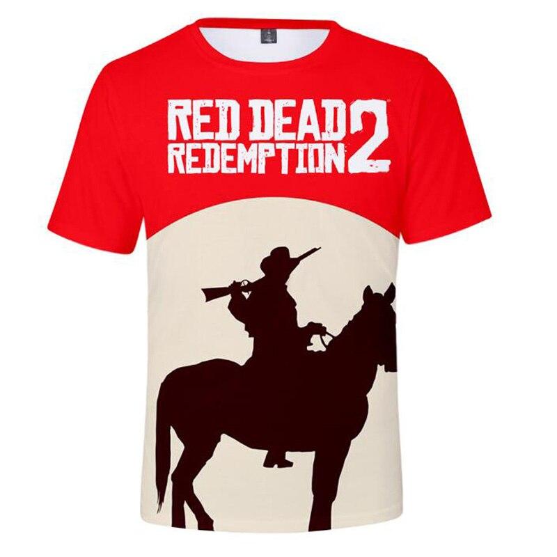 RED DEAD REDEMPTION 2 3D T-Shirt American New Game O-Neck Short Sleeve T Shirt Women Men Hip Hop Streetwear Casual Funny Tshirt
