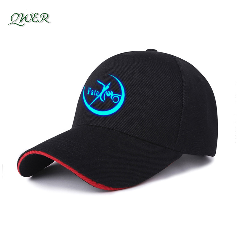 Japanese Anime Fate Zero One Piece SAO Cosplay Hat Naruto Luminous Men Women Baseball Cap Unisex Sun Hats