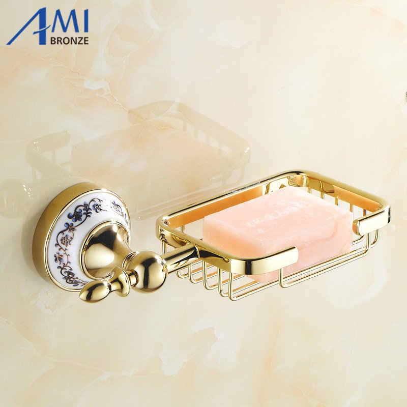 Antyczne/złoty uchwyt mydło netto akcesoria łazienkowe przechowywania mydelniczki dysku wc próżność 7004