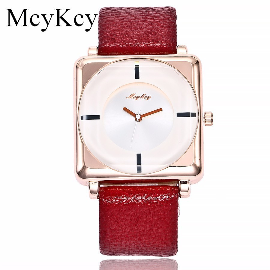 McyKcy Brand Popular Luxury Watches Women Dress Casual Quartz High-Quality Watch For Women's Leather Strap Simple Wristwatches onlyou brand luxury fashion watches women men quartz watch high quality stainless steel wristwatches ladies dress watch 8892