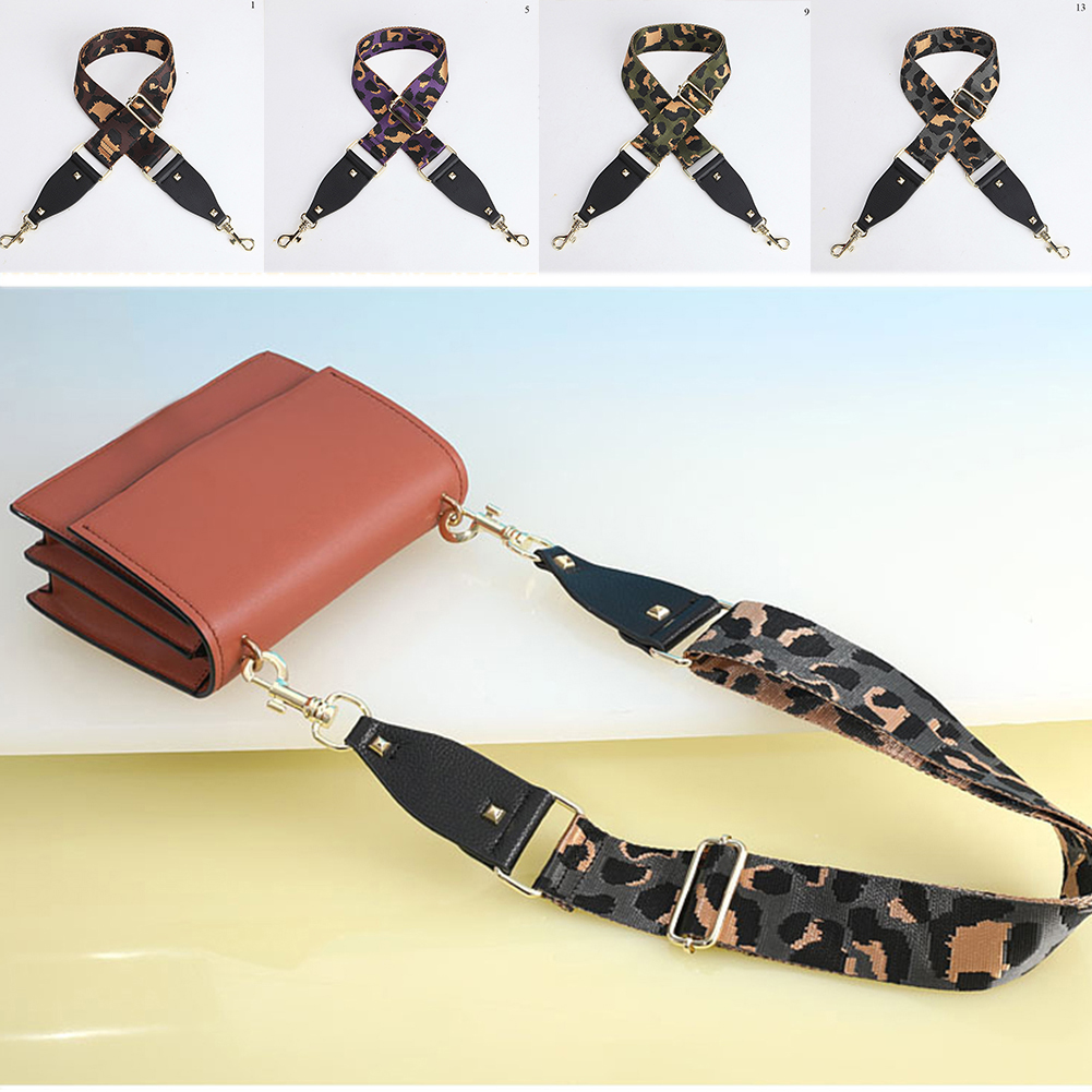 Camouflage Bag Straps DIY Bag Accessories For Shoulder Bags Canvas Straps Replacement Handbag Handle Long Bag Belts