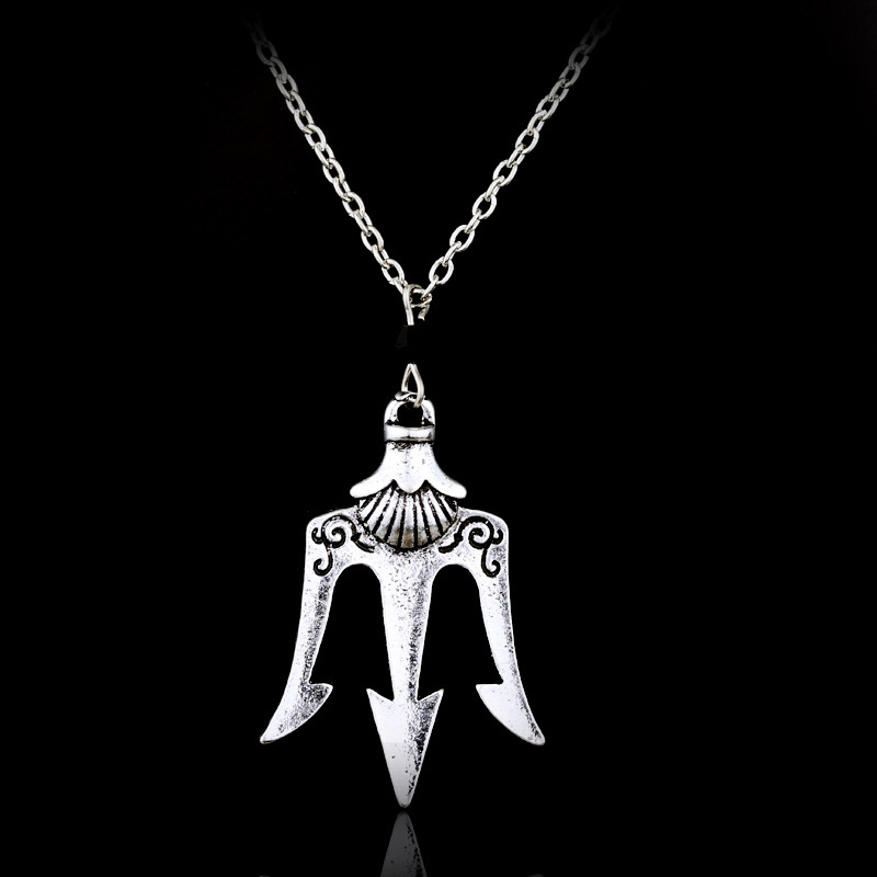 Us 1 72 36 Off Poseidon Trident Necklace Neptune Greek Spear Necklace Weapon Trident Necklace Anchor Necklaces Hook Rope Chain Jewelry In Pendant