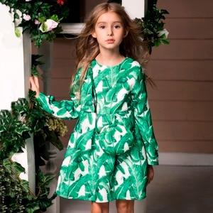 Image 2 - Princess Girls Dress Long Sleeve 2019 Autumn Brand Children Christmas Dress with Bag Printed Kids Dresses for Girls Clothing