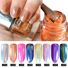 Misscheering 7ml Charming Holographic Shimmer Glitter Laser Nail Polish Varnish Holo Nail Art Decoration Tools 8 Colors Options(China)