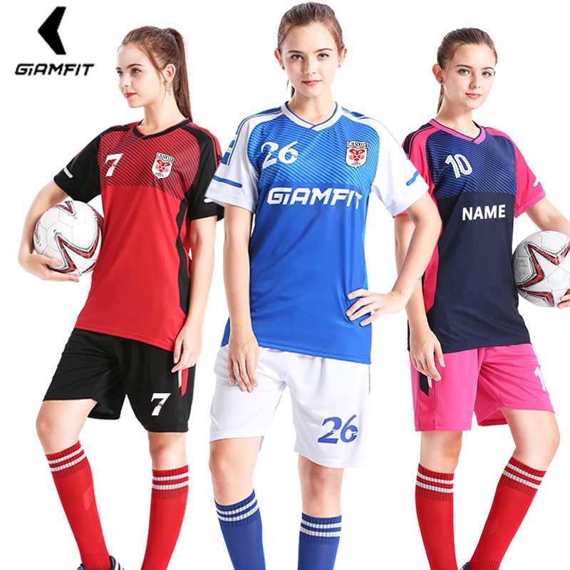 e58580dffce Uniformes de fútbol para adultos camisetas de fútbol 2019 para niñas equipo  de entrenamiento de poliéster
