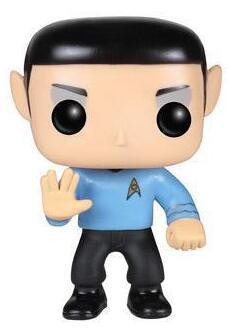 10cm Star Trek Character Spock Collection Vinyl Doll Figure Toys