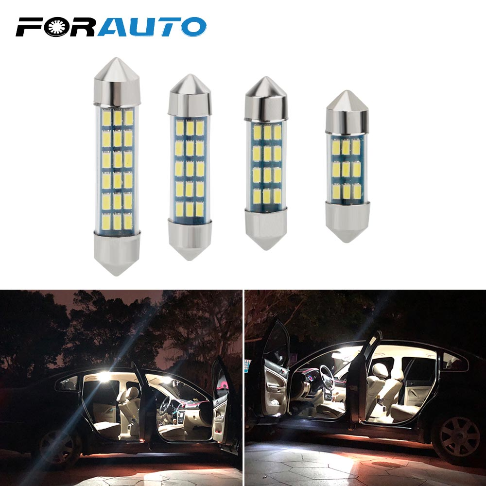 Super Bright Auto Interior Lamp White Canbus Error Free C5W C10W Festoon 31mm 36mm 39mm 41mm LED Bulb 3014 SMD Car Dome Light